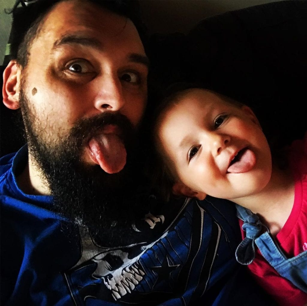Christian Hockenberger with daughter