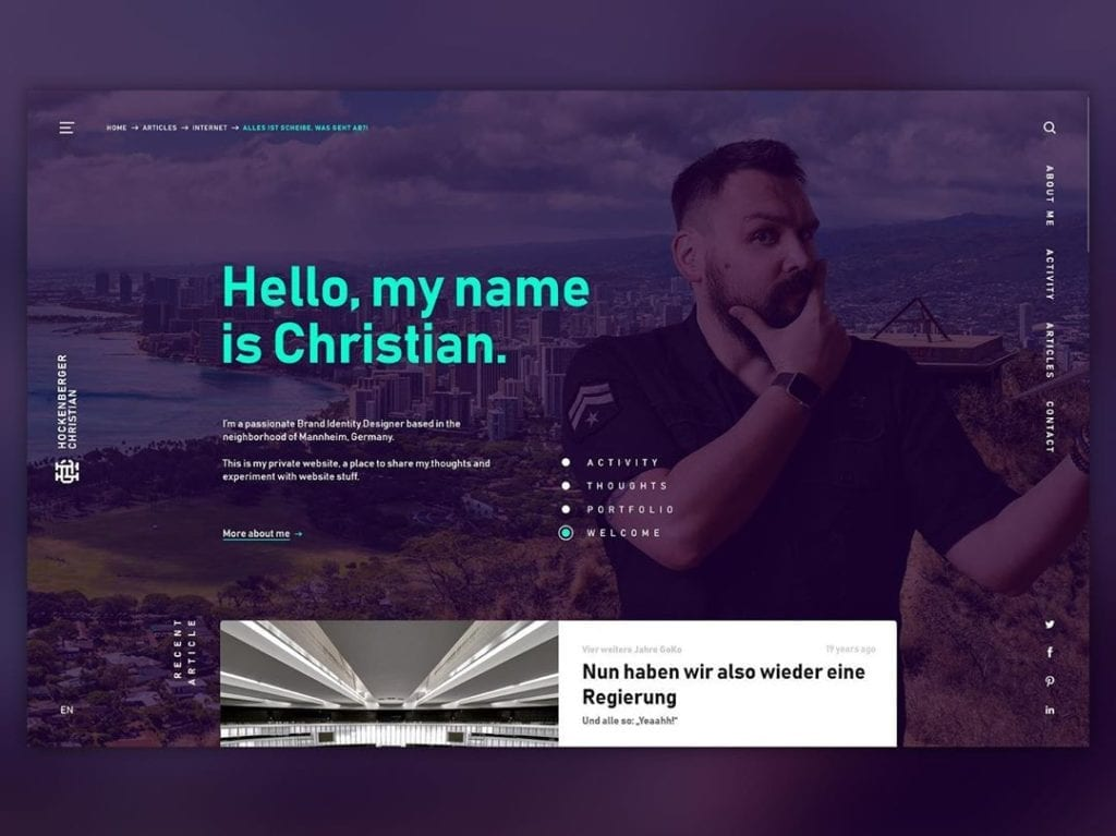Screenshot of Dribbble